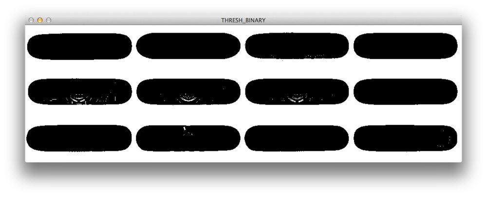 Figure 1: Applying cv2.threshold with cv2.THRESH_BINARY.