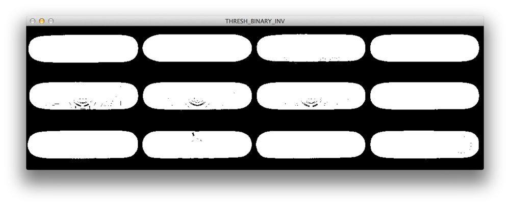 Figure 2: Applying cv2.threshold with cv2.THRESH_BINARY_INV.