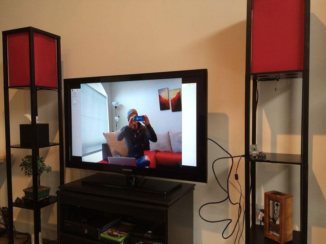 Figure 4: Sweet, the Raspberry Pi camera module is working!